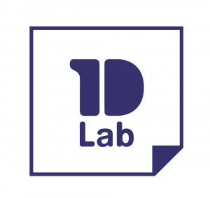 1D Lab - Logotype encadré simple - fond blanc